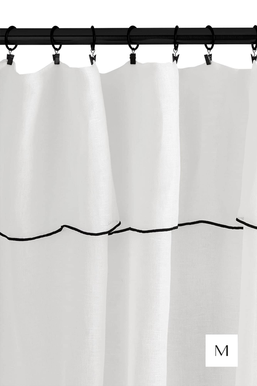 voilage panneau shadow blanc madura voilage rideau lin blanc voilage lin