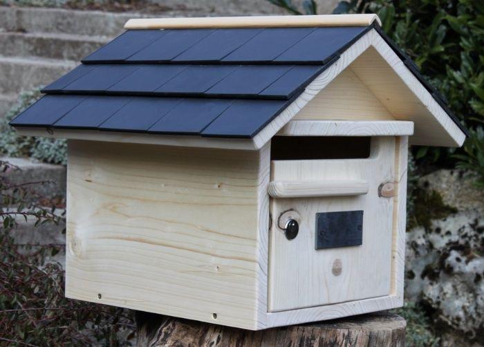 boite aux lettres bois creastuce maillat 1 porte prestige la lettre lettres et boite. Black Bedroom Furniture Sets. Home Design Ideas