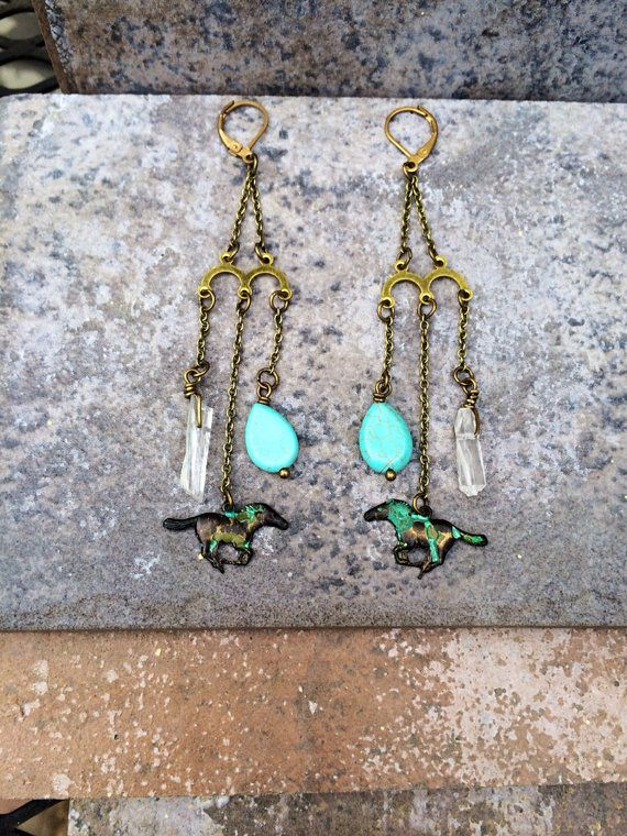 WILD HORSES //  Petite Horse Quartz and Turquoise by ShopParadigm, $36.00