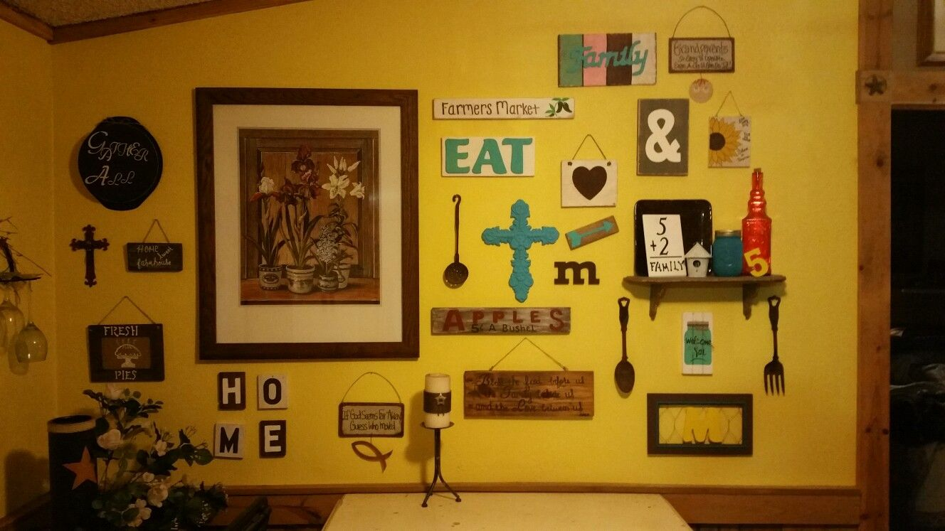 My first collage wall   For the Home   Pinterest   Collage walls and ...