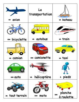je appris vocabulaire sur le transport en france vocab un bateau une bicyclette un taxi l. Black Bedroom Furniture Sets. Home Design Ideas