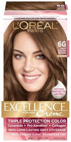 L Oreal Paris Excellence Creme 6g Light Golden Brown 1 Kit Light Golden Brown Hair Color Light Hair Color Golden Brown Hair Color