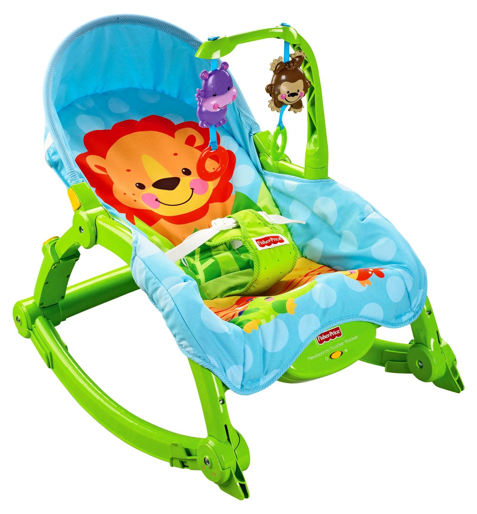 Fisher price precious planet newborn to toddler portable rocker it starts out as an infant seat or rocker with a low profile frame very appropriate for
