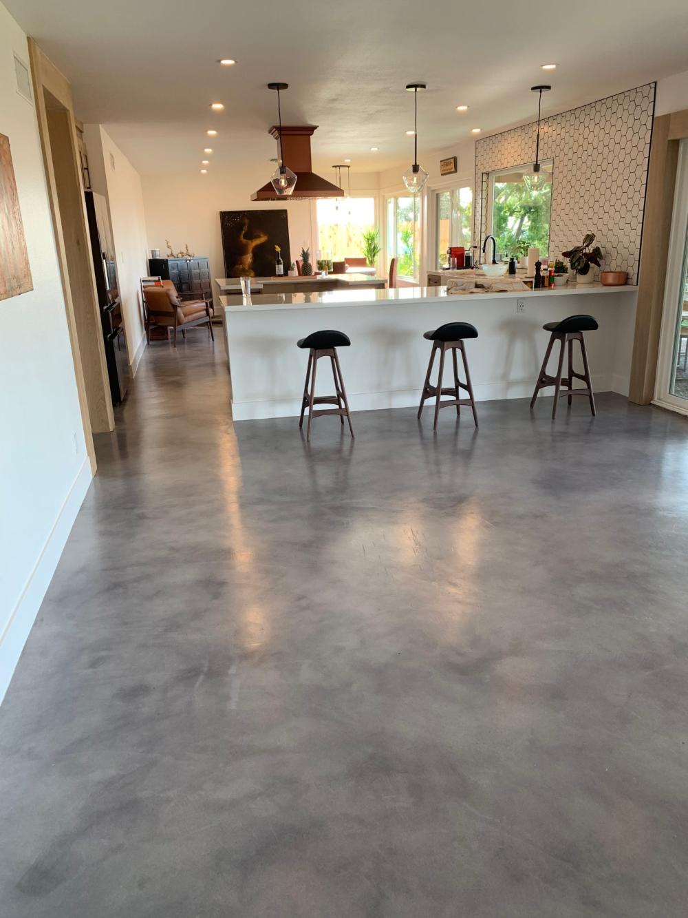 Concrete Floor Paint Colors Indoor Painting Indoor Concrete Floors Concrete Stained Floors Concrete Kitchen Floor