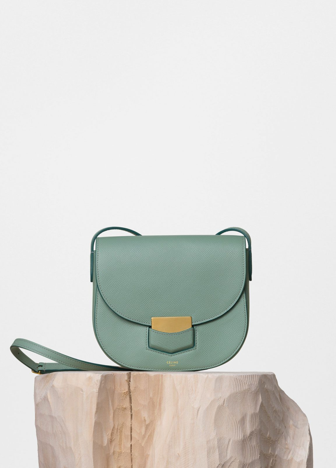 celine - SMALL TROTTEUR SHOULDER BAG IN JADE GRAINED CALFSKIN ... 4d88512387db9