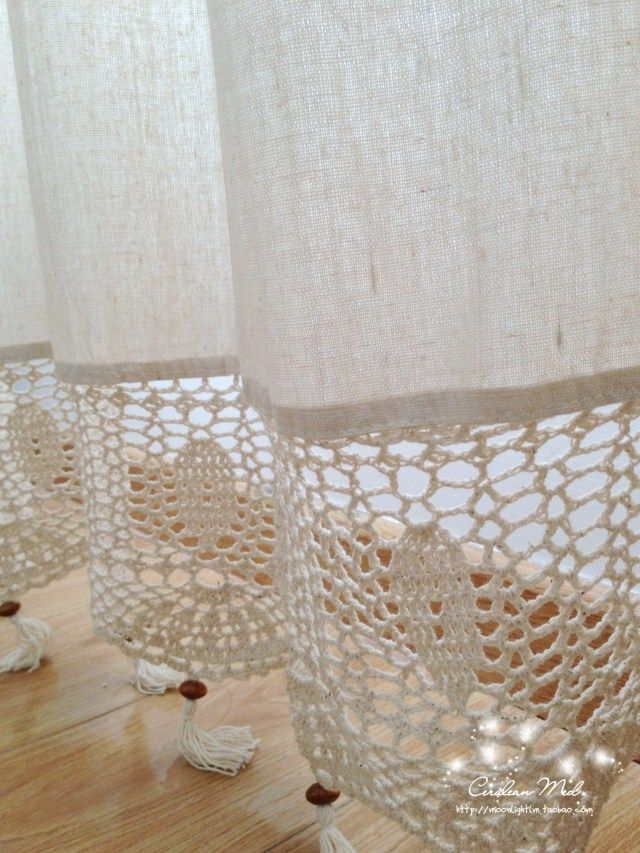 cortinas lienzo y crochet - Buscar con Google … | cortinas | Pinte…