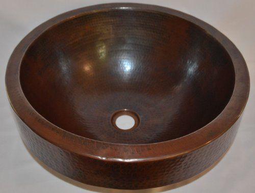 "17"" Round Copper Sink with 3"" Apron La Fragua http://www.amazon.com/dp/B00BV0GE9E/ref=cm_sw_r_pi_dp_1b8Fub18QRFZC"