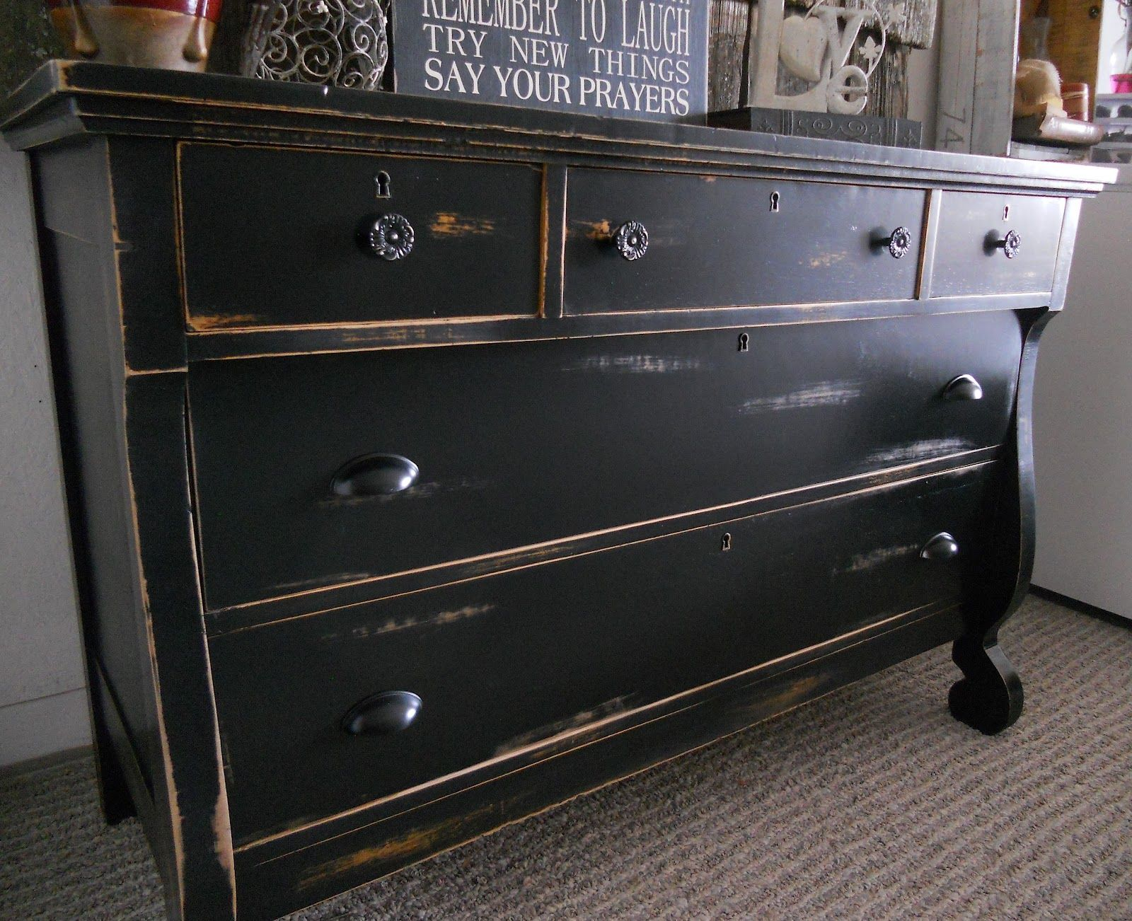 Grey distressed dresser white distressed vintage gray for Distressed furniture