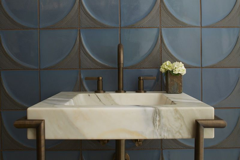 glamorous bathroom tile trends 2020 | Ann Sacks Modern Ribbed Tile. Ann Sacks | Michigan Design ...
