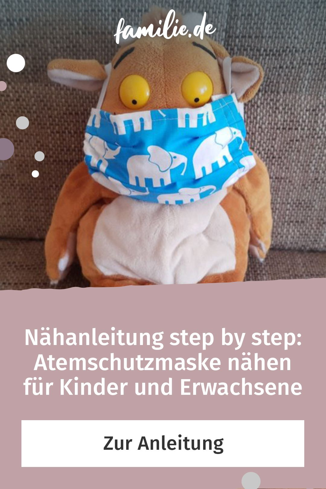 Photo of Nähanleitung step by step: Atemschutzmaske nähen für Kinder und Erwachsene