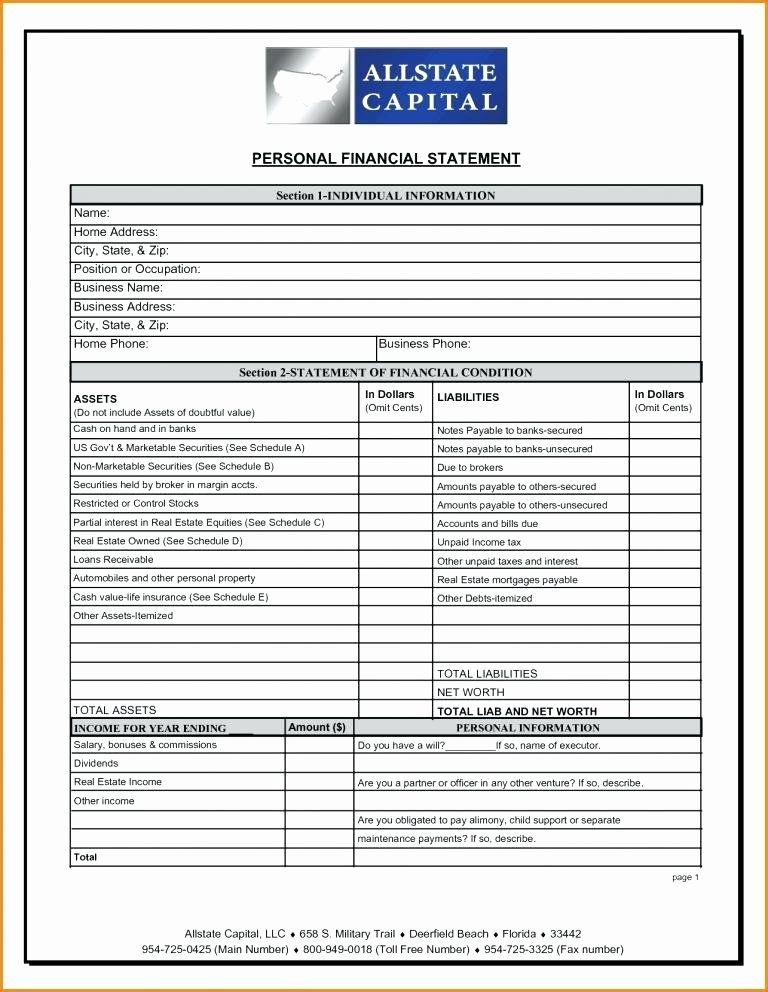Inspirational Pro forma Financial Statement Template in