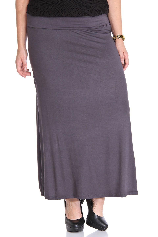 Hybrid - Tina Maxi Skirt in Smoke