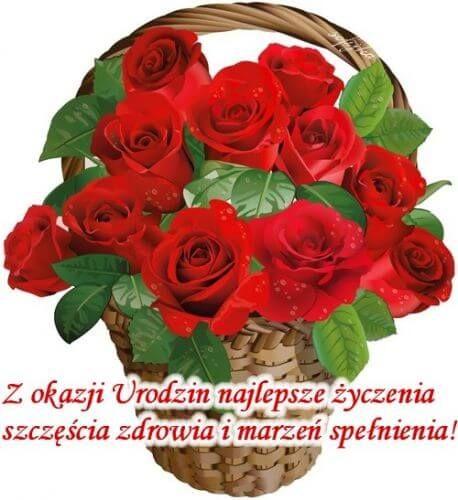 Kartka W Dniu Twoich Urodzin Najlepsze Zyczenia Birthday Wishes Christmas Wreaths Birthday