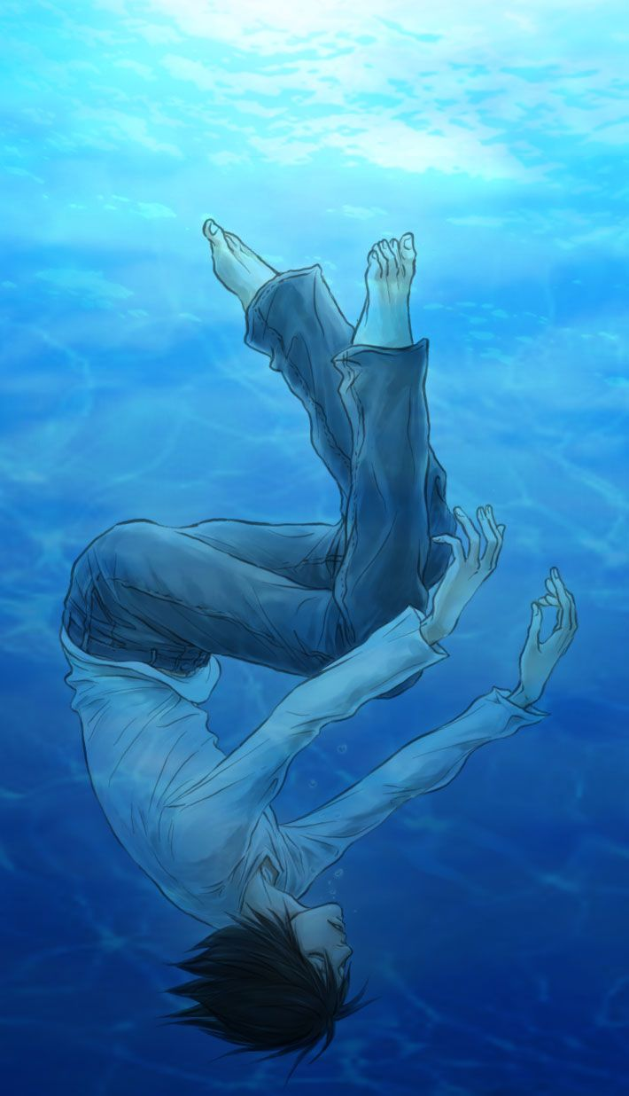 I wonder why there are lots of fanart of L drowning/underwater?