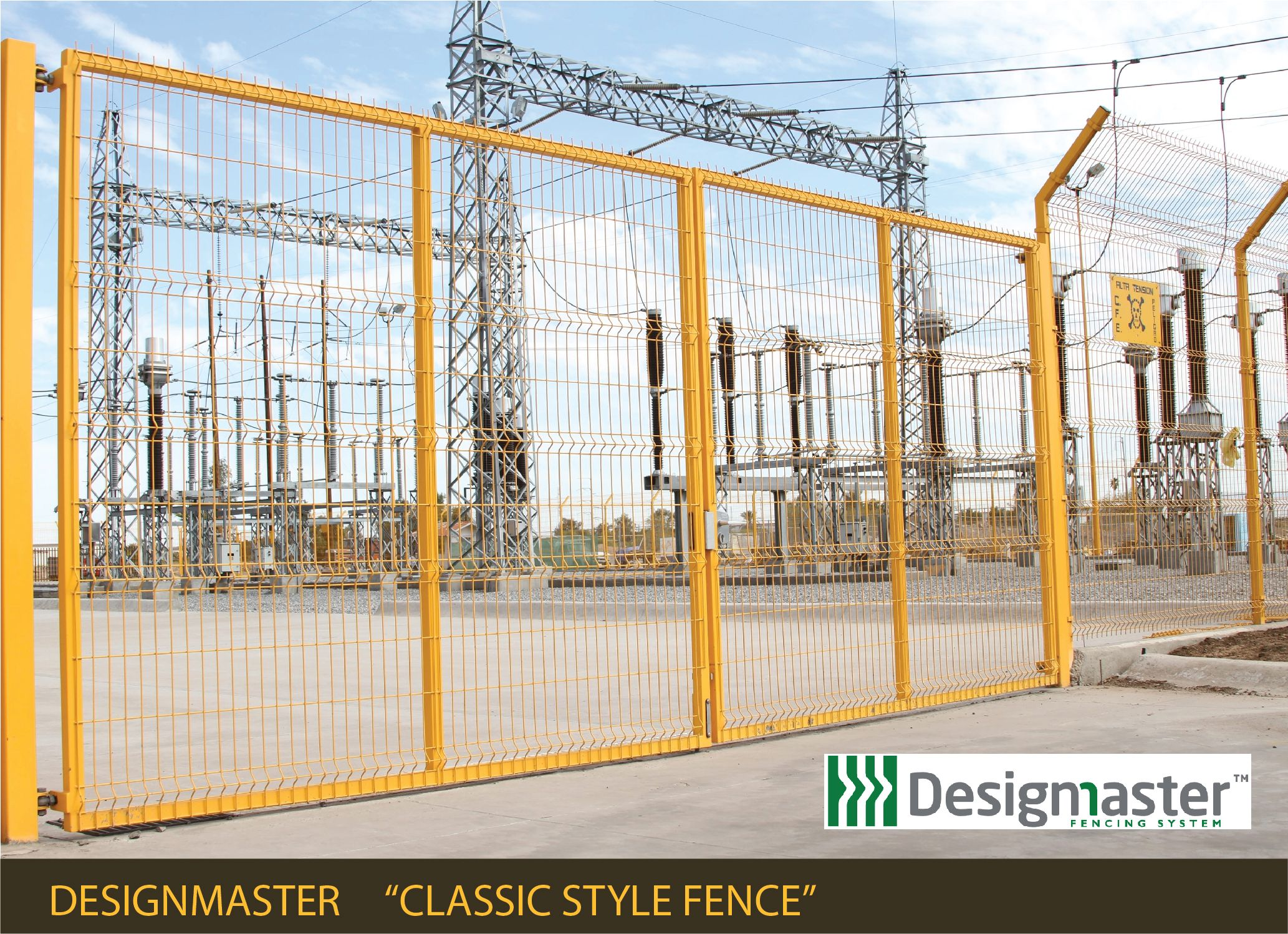 Designmaster fences are perfect for utility substation