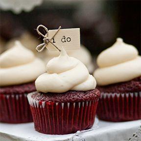 Red Velvet I Do Wedding Cupcakes