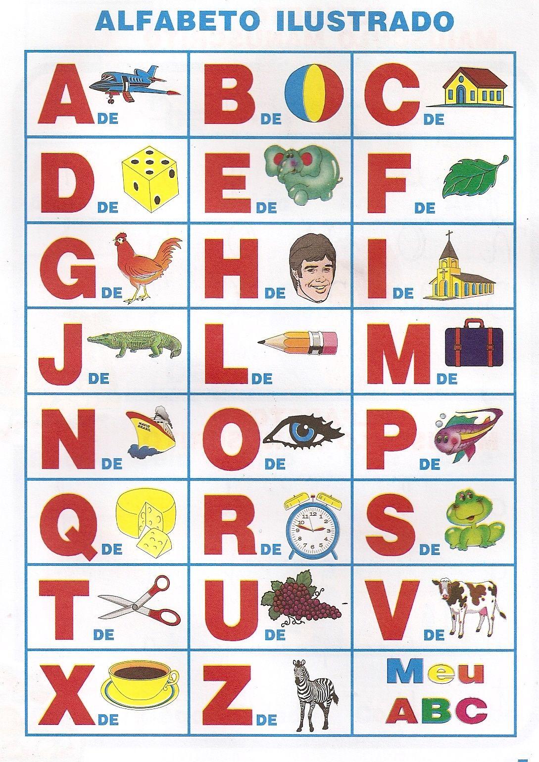 Alfabeto Ilustrado Para Imprimir Desenhos Para Colorir