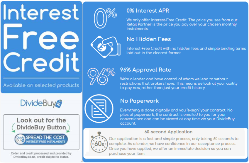 a941dbe3ca2 Introducing DivideBuy Interest Free Credit, Now Available on  www.CutPriceSuites.co.uk! With Lightning Fast Applications, Immediate  Decisions, No Hidden Fees ...