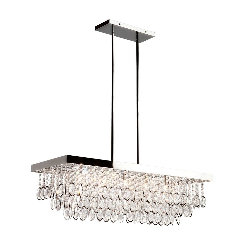 Elegante 5 Light Crystal Rectangle Chandelier From Artcraft Lighting Lowe S Canada
