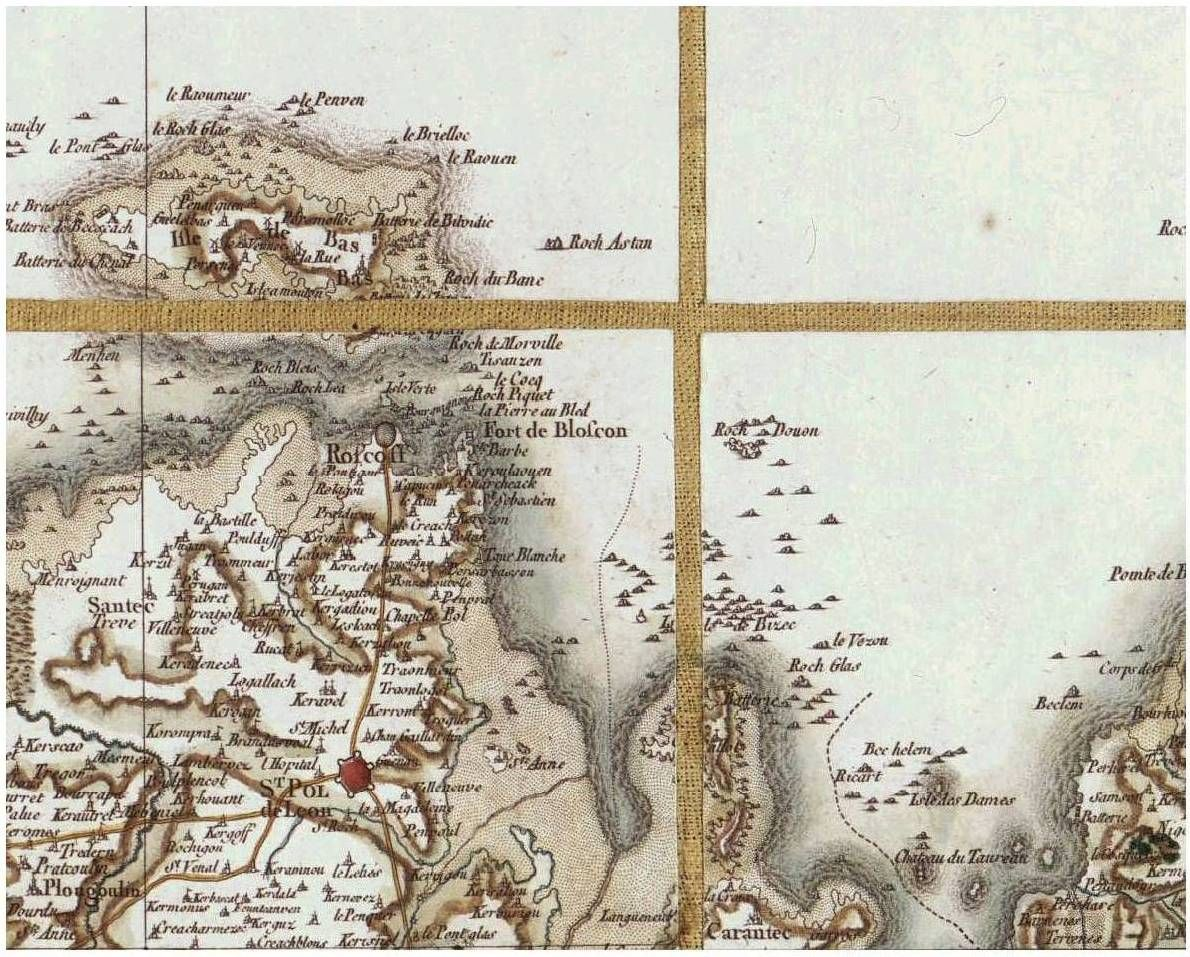 Carte De La Baie De Morlaix 18e Siecle Carantec St Pol De Leon