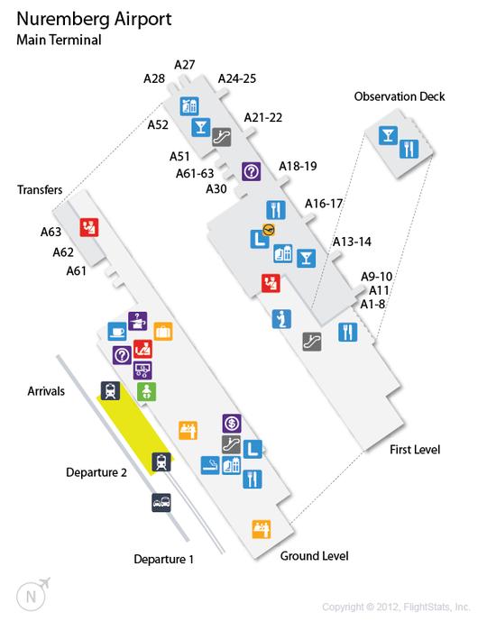 NUE Nuremberg Airport Terminal Map airports Pinterest Flight
