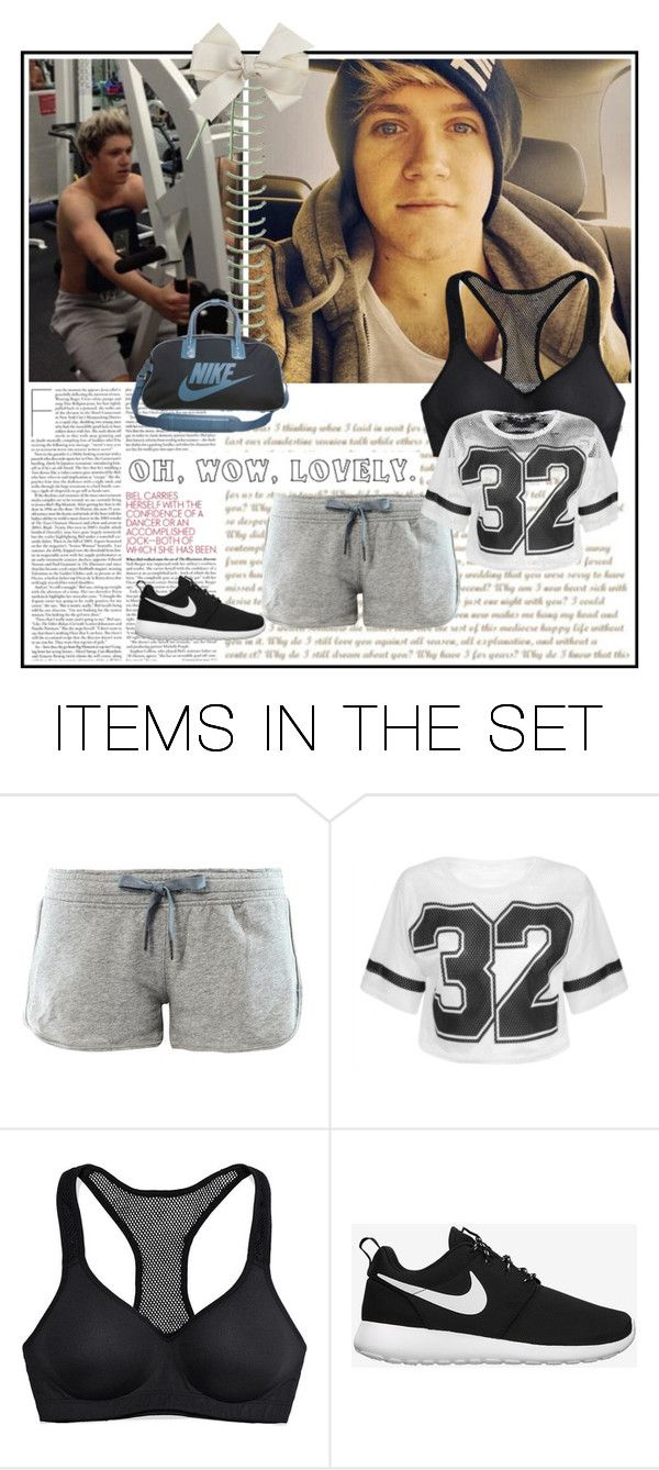 """""""in the gym with Niall a hot day"""" by ammy-horan-98 ❤ liked on Polyvore featuring art"""