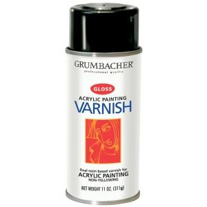 Grumbacher Hyplar Gloss Varnish Spray Gloss Spray Can 11 Oz Varnish Model Gb547 Price Per Each Your Paintings Matte Pictures Painting