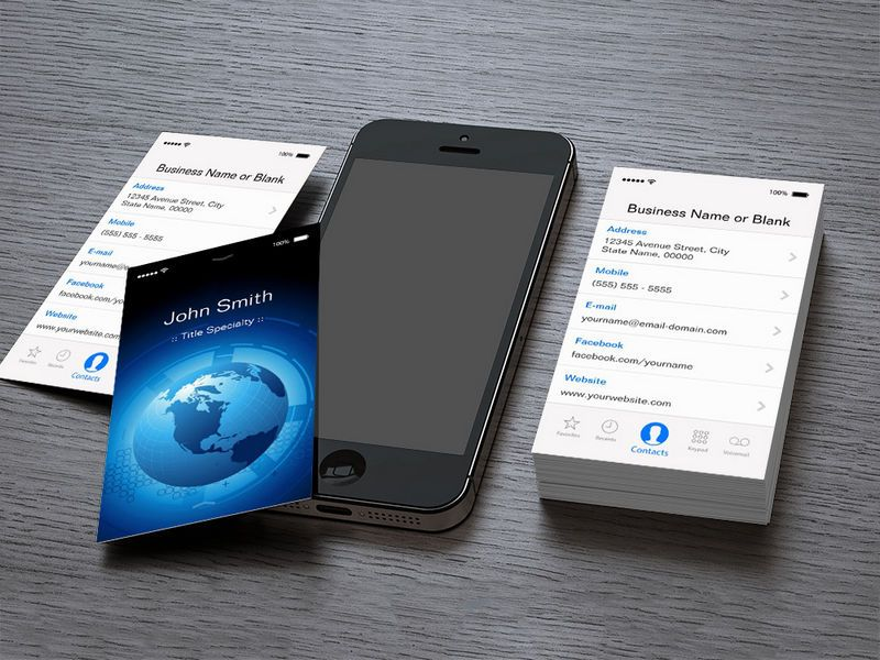 Information Technology - Cool iPhone iOS Design Business Card ...