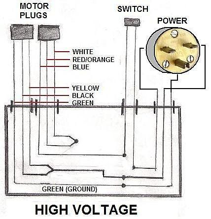 how to wire an electric motor to run on both 110 and 220 volts in rh pinterest com
