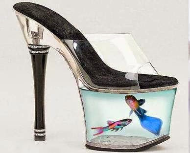 388e1f30fc4 Amazing High Heels Shoes with Fish in them