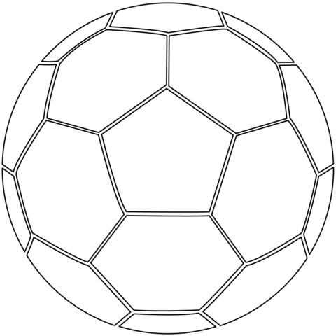 Soccer Ball Coloring Page From Soccer Category Select From 26202 Printable Crafts Of Cartoons Natur Sports Coloring Pages Football Coloring Pages Soccer Ball