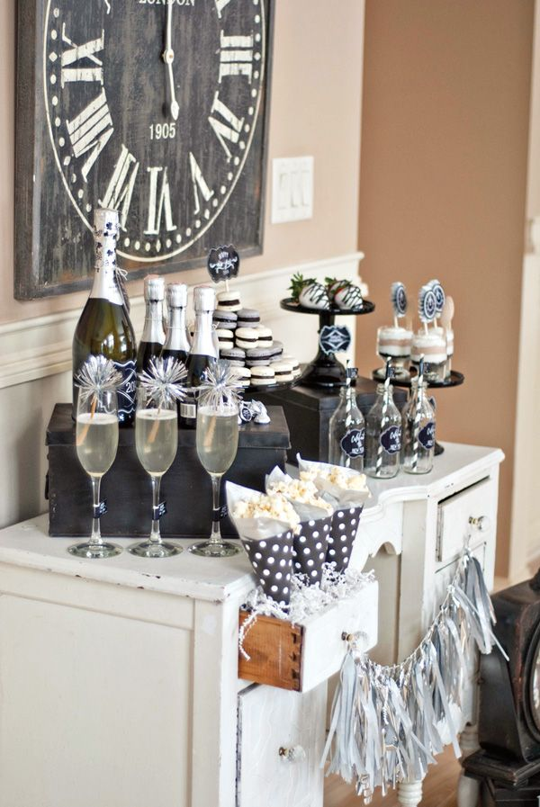 Vintage Style Countdown Themed Party // Hostess with the ...