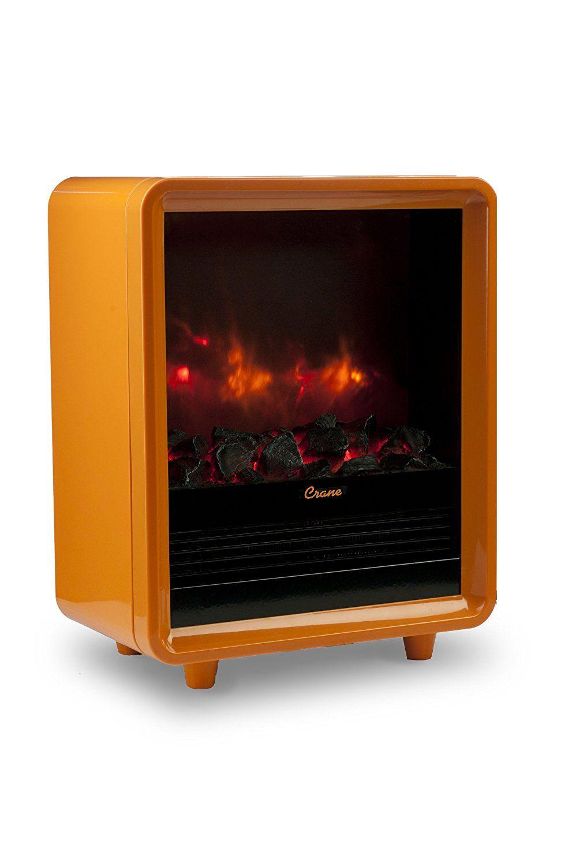 Amazon Com Crane Mini Fireplace Heater Orange Home Kitchen