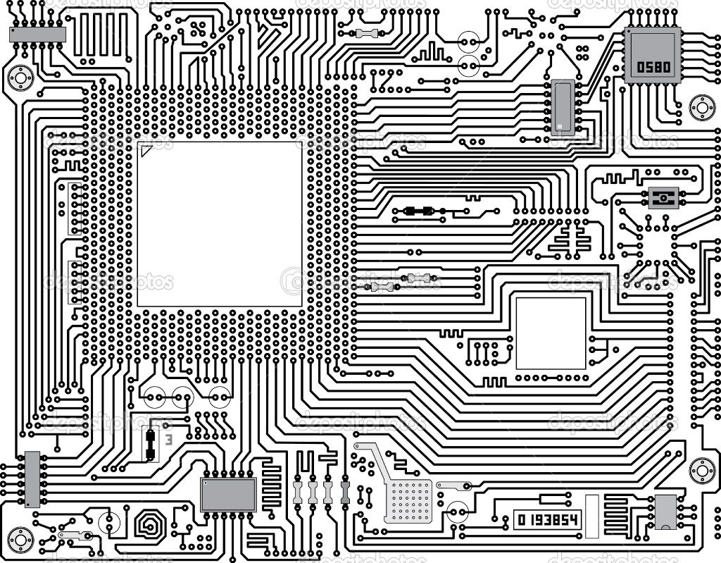 Abstract Circuit Board Background By Silvertiger: Depositphotos_4716334-vector-circuit-board-industrial