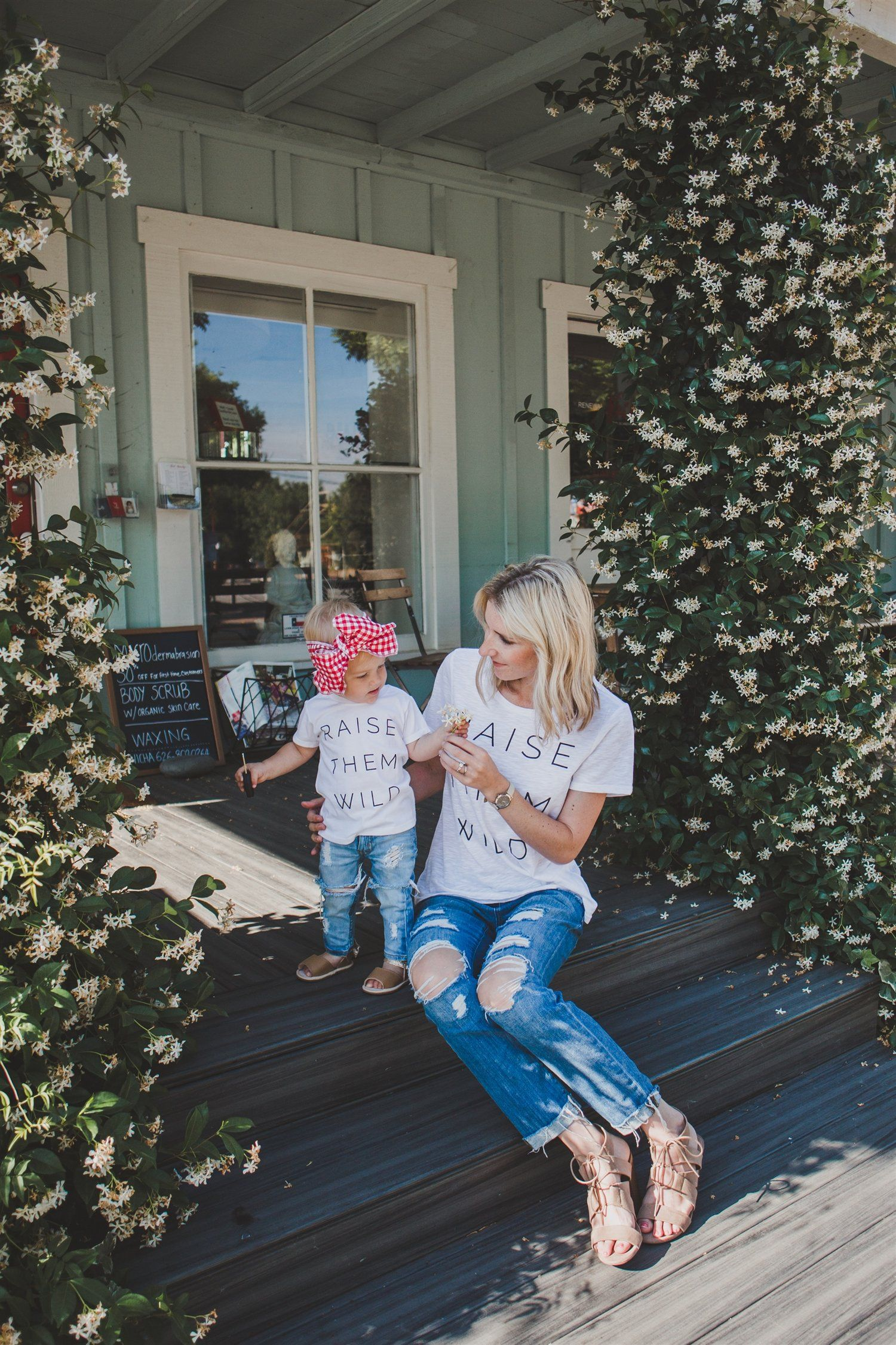 Matching Mommy + Me T Shirts - Raise Them Wild - Wild Sunshine Threads