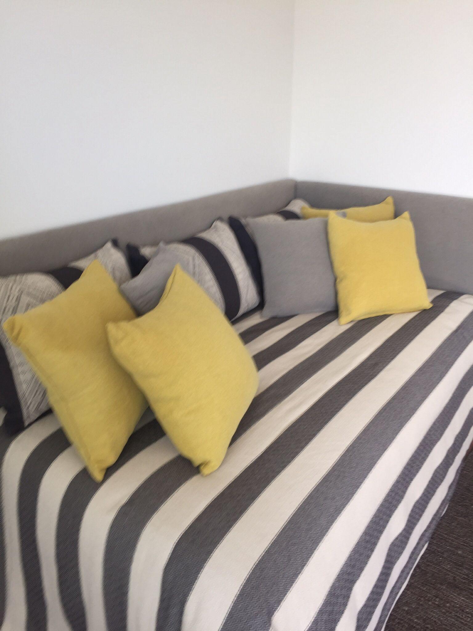 Respaldo tapizado en L para cama ,la idea es mantenerlo como una ...