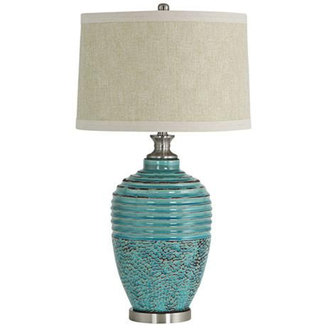 Beta Teal Textured Ceramic Jug Table Lamp Tall Table Lamps Ceramic Table Lamps Table Lamp