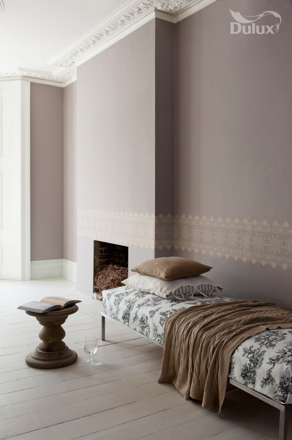 Dulux Chalk Blush 1 With Stencilled Border Like The