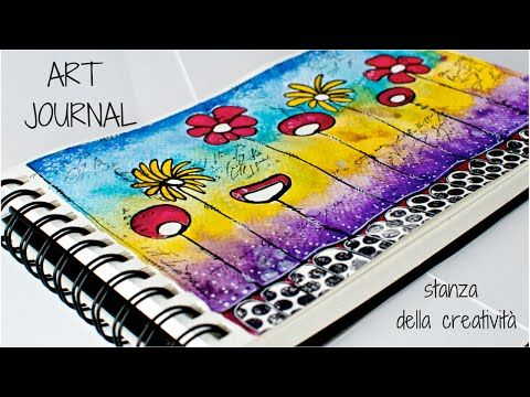 Art Journal page #2 - Fabriano watercolor paper - YouTube