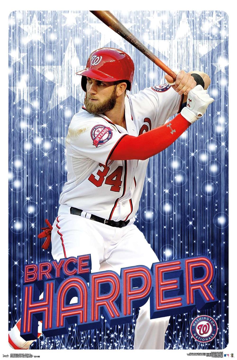 Mlb Washington Nationals Bryce Harper Bryce Harper Washington Nationals Sport Poster