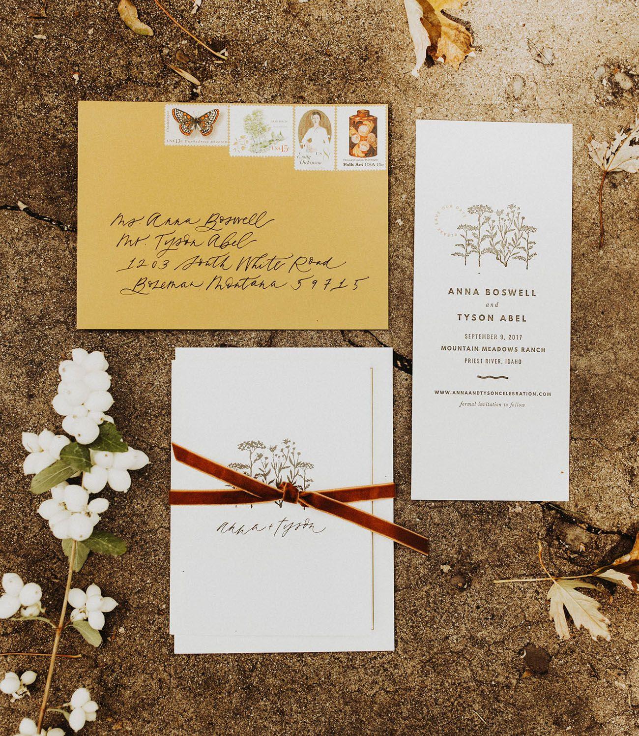 Modern Meets Rustic Autumn Lake Wedding | Simple wedding ...