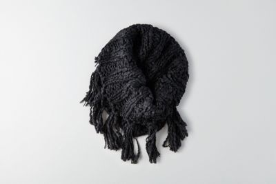 AEO Fringe Snood  by  American Eagle Outfitters | GET PERSONAL. How you accessorize says A LOT about your unique style. Whether it's an unexpected shoe choice or a hat that shouldn't work (but totally does), make every look your own. Shop the AEO Fringe Snood  and check out more at AE.com.