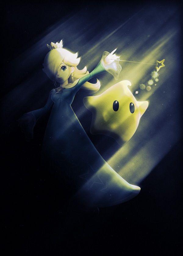 "Super Smash Bros. Ultimate Light Characters Princess Rosalina #Displate artwork by artist ""Danaydal"". Part…   Displate thumbnail"