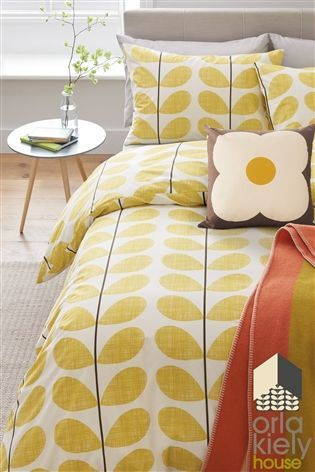 Buy Orla Kiely Scribble Soft Lemon Yellow Duvet Cover From The Next Uk Online Shop Yellow Duvet Duvet Covers Yellow Retro Bed