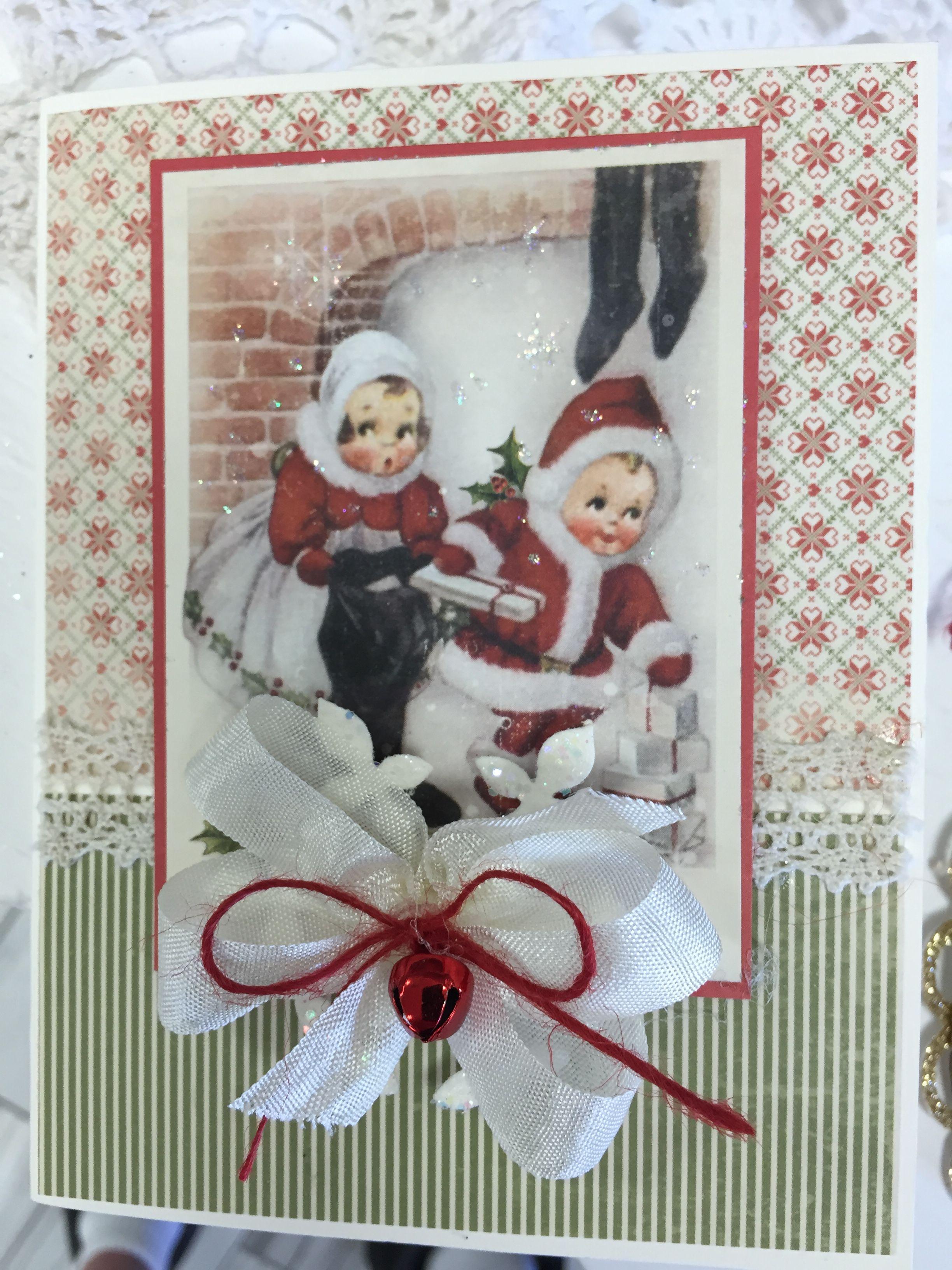 Надписями диалог, винтажные открытки на рождество своими руками