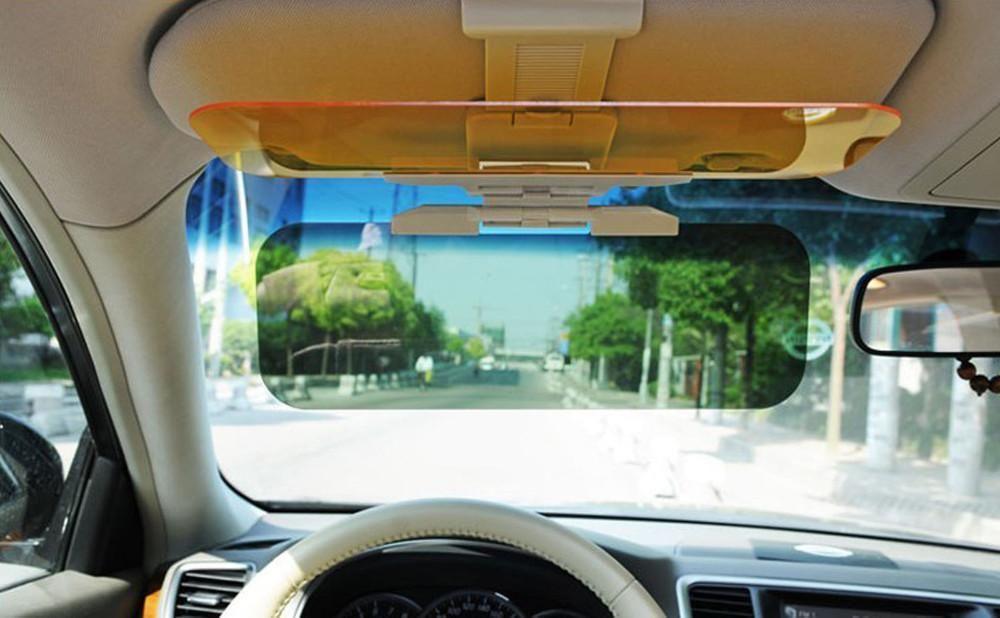 Day /& Night Auto Car Sun Visor Anti Glare HD Mirror Safety Driving UV Sun Block