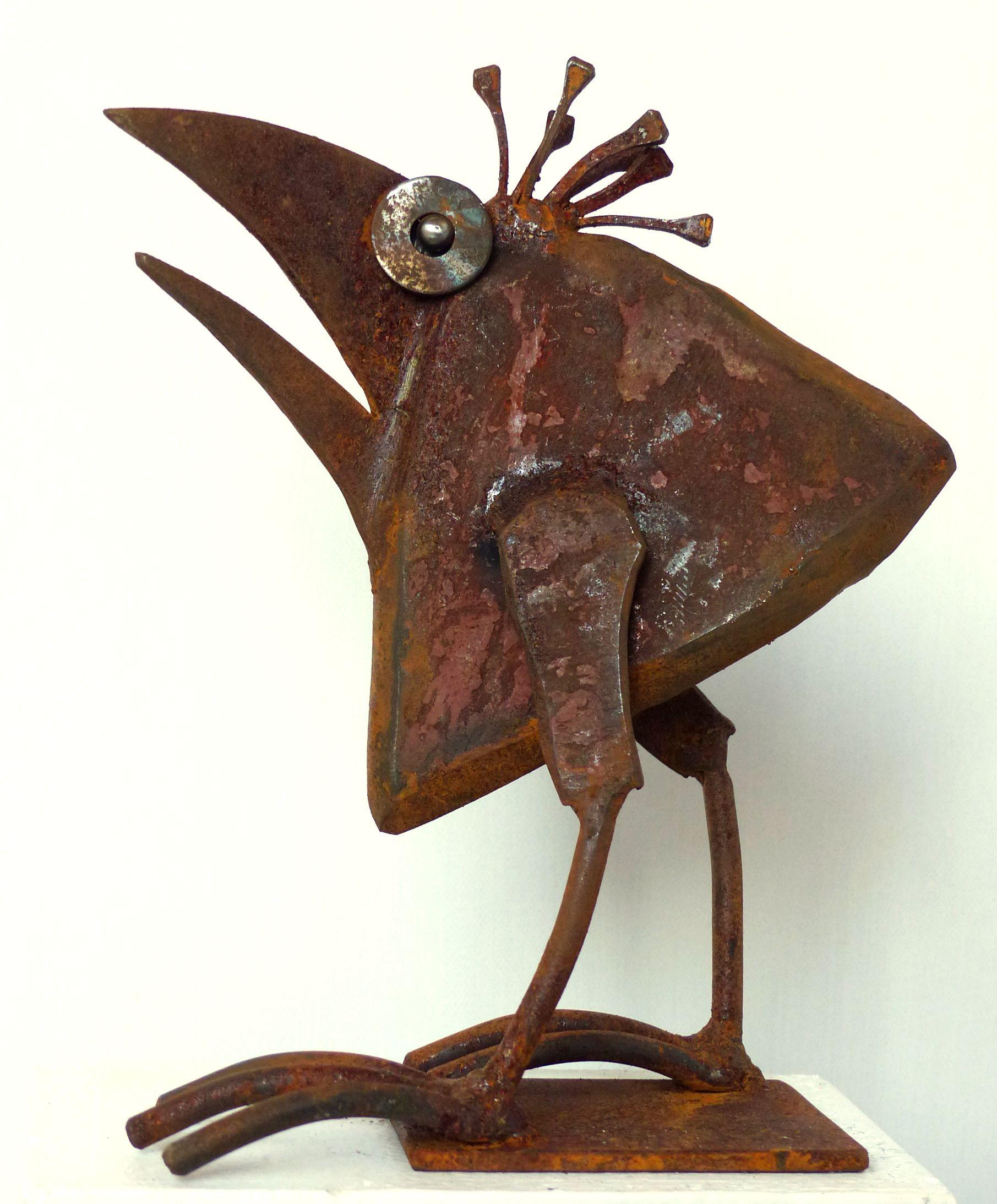 Scrap metal sculpture by chris kircher i skulpturen aus - Sculpture metal jardin ...