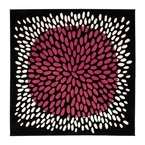 ikea tradklover 6 7 espace tapis carr noir rose blanc. Black Bedroom Furniture Sets. Home Design Ideas