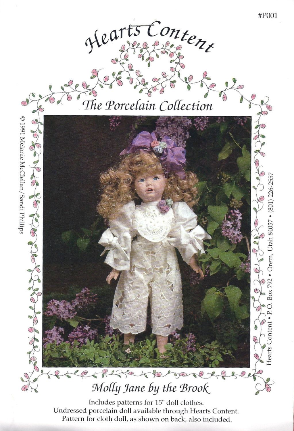 "15"" DOLL CLOTHS and DOLL SEWING PATTERN - ""Molly Jane by the Brook"" - at KrissesKorner on Etsy"