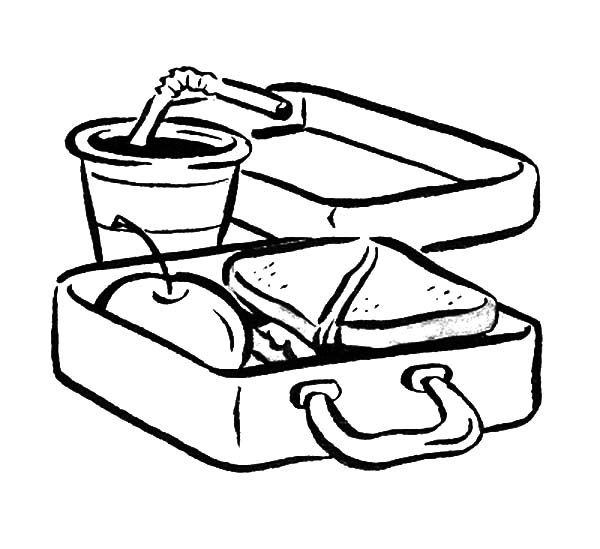 Lunch Box Coloring Page Online Coloring Pages Coloring Pages Online Coloring
